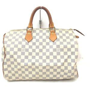 Louis Vuitton Boston Bag Speedy 35 N41369 Whites Damier Azur 402501
