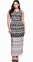 Eloquii Geometric Print Maxi Dress Size 14W