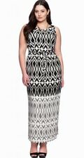 Eloquii Geometric Print Maxi Dress Size 14W