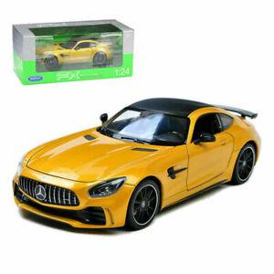 WELLY 1/24 SCALE YELLOW MERCEDES BENZ AMG GT R DIECAST CAR MODEL  24081YLW