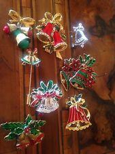 Rare! Vintage Lot Christmas Bells Pins Lotto Spille Campanelle Di  Natale (2)