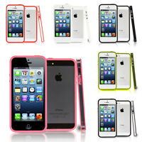 Accessoire Coque Housse Etui Case Silicone Gel Bumper Luxe Apple iPhone 5/ 5S