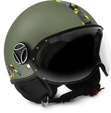 JET HELMET MOMO DESIGN FIGHTER BABY MILITARY GREEN - CAMU SIZE JM