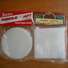Darice plastic needle craft canvas 10 round & 10 square
