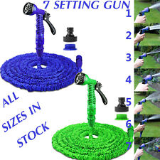 More details for retractable expandable stretch garden hose water pipe & spray gun nozzle set