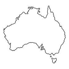 Australia forma Auto Finestrino Paraurti muro frigo In Vinile Decalcomania Adesivo souvenir BIANCO