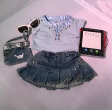 Build A Bear Jean Outfit Purse Glasses And Tablet
