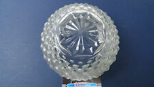 Vintage Deco Art Clear Ceiling Globe, Light Shade,Beautiful embossed pattern,