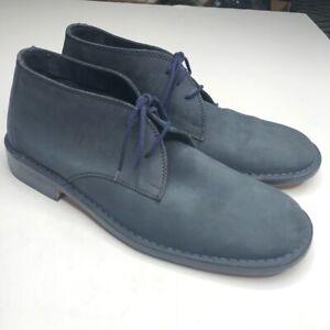 Kenneth Cole size 11.5 Blue Suede Chukka Boots Lavorazione Artigiana