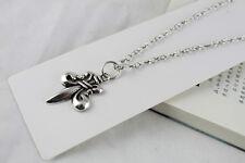 3pcs Tibetan Silver Fleur de lis Pendant Necklaces