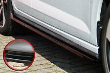 CUP Seitenschweller Schweller Sideskirts ABS für VW Polo GTI 2G AW schwarz glanz