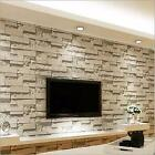 10M 3D Stone Brick Wall Paper Background Rustic Modern Slate Mural Roll Decal