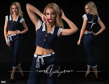 Zweiteilige Damen-Anzüge & -Kombinationen im Hosenanzug-Stil aus Baumwolle mit Jacket/Blazer