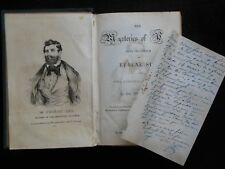 SIGNED (Letter/ALS) Eugene Sue - Mysteries of Paris (1844-1st UK) French Fiction