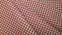 Primitive Christmas Plaid Check Barn Red Cotton Homespun Rag Quilt Doll Fabric