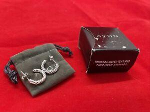 vintage Avon sterling silver handmade bracelet glittering textured 925 silver hinged bangle 7.75\u201d stamped 925 Avon