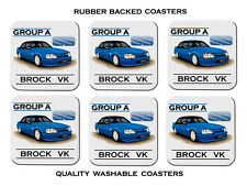 HOLDEN  BROCK  VK  GROUP  A  SS       SET OF 6  QUALITY RUBBER DRINK  COASTERS