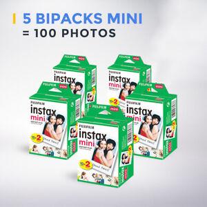 5 Bipacks Fujifilm Instax Mini Film, 100 photos