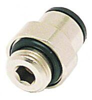 "B10-03181 - Conector Macho Bspp & Métrico - 8mm o / D X 1/2"" Bspp Macho Perno"