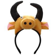 3D Cow Ox Headband Animal Farm Adult Children Costume Mask Maskenball O8H5