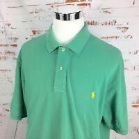 Polo Ralph Lauren Mens Short Sleeve Pique Shirt 2XB 2XL Big Mint Green