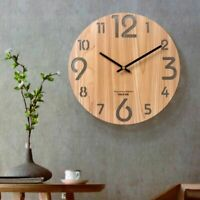 Wooden 3d Wall Clock Nordic Living Room Decoration Wall Watch Home Decor 12 Inch