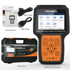 FOXWELL NT650 Elite OBD2 Automotive Scanner ABS SRS SAS DPF Oil Reset Code
