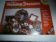 1989 Santa's Workshop Treasures 100 Projects Pattern Cross Stitch Plastic Canvas