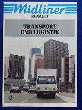 Renault Midliner - Transport & Logistik - Prospekt Brochure 08.1987 Übergröße