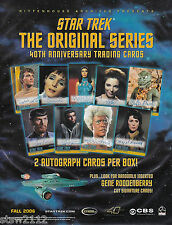 STAR TREK THE ORIGINAL SERIES 40TH ANNIVESARY MASTER SET AUTOGRAPHS INCENTIVES++