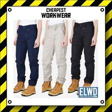 ELWD | Elwood Workwear | WOMEN'S STRETCH WORK PANTS (Navy, Khaki, Black) EWD502