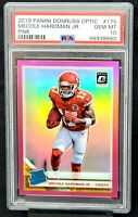 2019 Optic PINK REFRACTOR Chiefs MECOLE HARMAN Rookie Card PSA 10 GEM MINT Pop 4