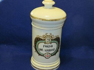 Antique Polvo DE Arroz Apothecary Jar By Albert Pillivuyt Limgoes