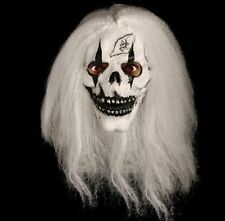 Skull & White Hair Latex Overhead Mask Halloween Fancy Dress Accessory