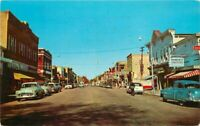 Automobiles Main Street Shawano Wisconsin Servi's Teich Postcard 20-7326