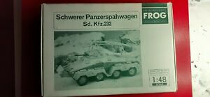 Panzerspahwagen Sd. Kfz, 232 1/48 scale model kit by Bandai/Frog