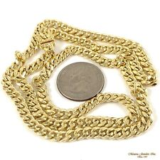 "24"" 10K yellow gold CUBAN CURB Link 5.5MM Chain Necklace, 19.2gr  (r21 15)"
