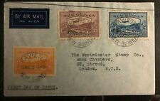 1939 Kavieng New Guinea First Day Cover FDC To London England Sg#212 14 16