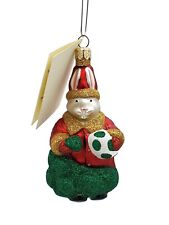 Patricia Breen A Christmas Bunny Holiday Ornament Green Red Gold Glitter Poland