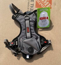 New listing Kong Small Comfort + Reflective Grey Waste Bag Harness New