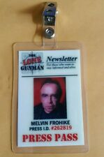 X-files TV Series ID Badge-The Lone Gunman Melvin Frohike costume prop cosplay