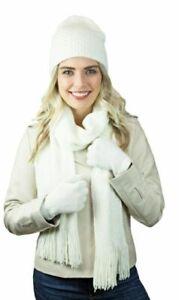 Scarf Hat Gloves women's 3 piece set soft knit Holiday Gift Set -Choose Color-