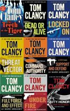 Tom Clancy JACK RYAN JR Military Thriller Series Collection Set of Books 1-9
