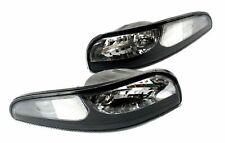 1997-2004 Chevy Corvette Front Black Bumper Lights Set LH/RH