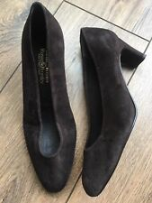 VGC Stuart Weitzman @ Russell & Bromley Brown Suede V Throat Court Shoes 5 38