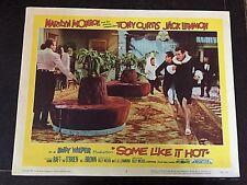 SOME LIKE IT HOT 1958 LOBBY CARD - MARILYN MONROE, TONY CURTIS, JACK LEMMON
