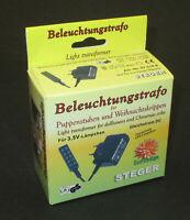 Steger Beleuchtungs-Trafo 3,5 Volt für Puppenhäuser / Krippen