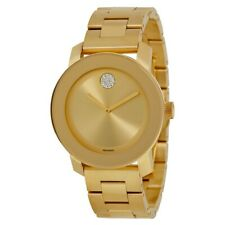 Movado Women's 3600104 Bold Gold Ion-Plated Bracelet Watch with Swarovski Crysta
