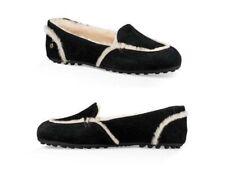 UGG Hailey Suede Sheepskin Loafers Women's Black US Size 9 Brand New
