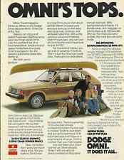 "DODGE OMNI ""MOTOR TREND CAR OF THE YEAR"" 1978 VINTAGE MAGAZINE AD  INV#203"